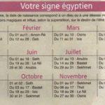 votre signe astrologique égyptien en fonction de votre date de naissance